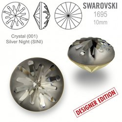 Swarovski 1695 Sea Urchin Round 10mm Silver Night