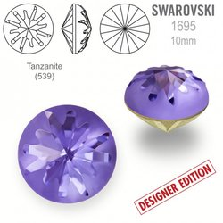 Swarovski 1695 Sea Urchin Round 10mm Tanzanite