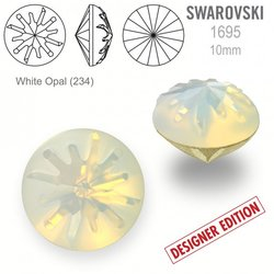 Swarovski 1695 Sea Urchin Round 10mm White Opal