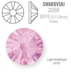 Swarovski 2058 Foiled SS10 Light Amethyst