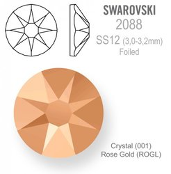 Swarovski 2088 Foiled SS12 Rose Gold