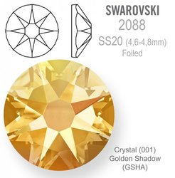 Swarovski 2088 Foiled SS20 Golden Shadow