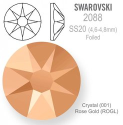 Swarovski 2088 Foiled SS20 Rose Gold
