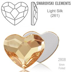 Swarovski 2808 Heart Flat Back LIGHT SILK 6m
