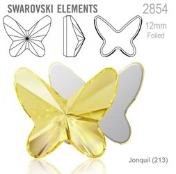 Swarovski 2854 Butterfly Flat Back 12mm Jonquil