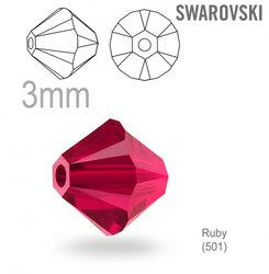 Swarovski 5328 Bead  Ruby 3mm