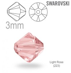 Swarovski 5328 Bead Light Rose 3mm