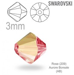 Swarovski 5328 Bead Rose AB 3mm