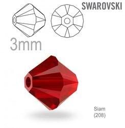 Swarovski 5328 Bead Siam 3mm