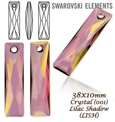 Swarovski 6465 Queen Baguette 38x10mm Lilac Shadow
