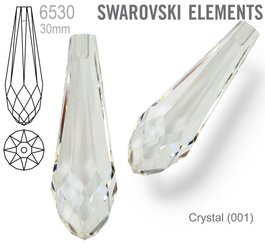 Swarovski 6530 Pure Drop 30mm CRYSTAL