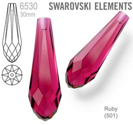 Swarovski 6530 Pure Drop 30mm RUBY