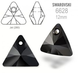 Swarovski 6628 Triangle 12mm Jet