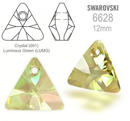 Swarovski 6628 Triangle 12mm Luminous Green