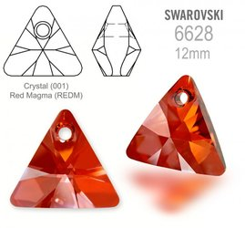 Swarovski 6628 Triangle 12mm Red Magma