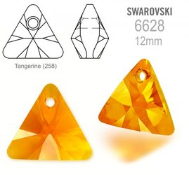 Swarovski 6628 Triangle 12mm Tangerine