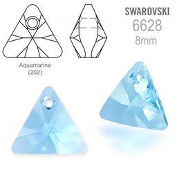 Swarovski 6628 Triangle 8mm Aquamarine