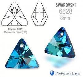 Swarovski 6628 Triangle 8mm Bermuda Blue