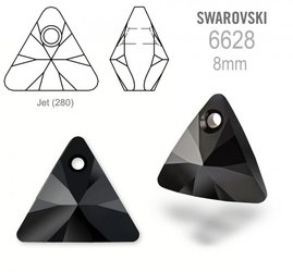 Swarovski 6628 Triangle 8mm Jet