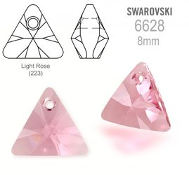 Swarovski 6628 Triangle 8mm Light Rose