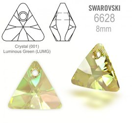 Swarovski 6628 Triangle 8mm Luminous Green