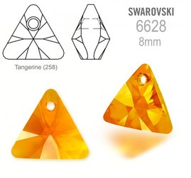 Swarovski 6628 Triangle 8mm Tangerine