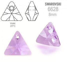 Swarovski 6628 Triangle 8mm Violet