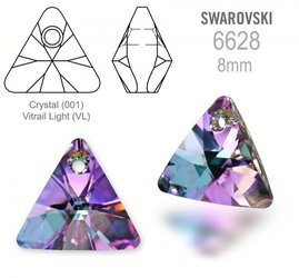 Swarovski 6628 Triangle 8mm Vitrail Light