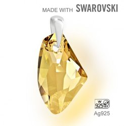 Swarovski 6656  Golden Shadow 27mm + slupna Ag925