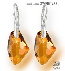 Swarovski 6656 Crystal Copper 19mm + nausnice