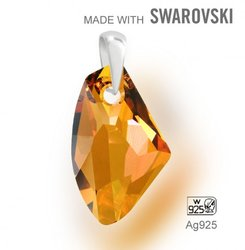 Swarovski 6656 Crystal Copper 27mm + slupna Ag925