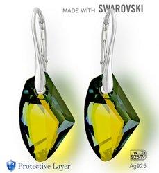 Náušnice sada Made with Swarovski 6656 Crystal (001) Tabac … ed1a5f7f763