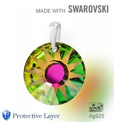 Swarovski 6724 Vitrail Medium 19mm+slupna Ag