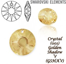 Swarovski 6724-G Sun Pendant PF 12mm GOLDEN SHADOW