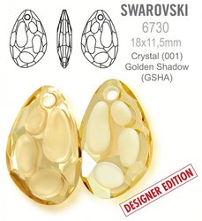 Swarovski 6730 Radiolarian 18x11,5mm Golden Shadow