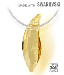 Swarovski 6904 Golden Shadow 30mm + retizek Ag925