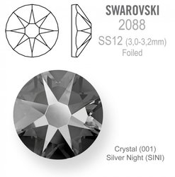 Swarovski Foiled SS12 Silver Night