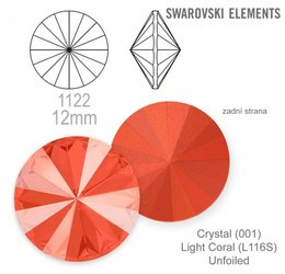 Swarovski rivoli 1122 Light Coral 12mm