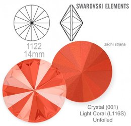 Swarovski rivoli 1122 Light Coral 14mm