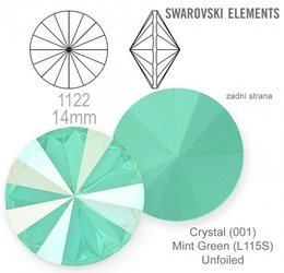 Swarovski rivoli 1122 Mint Green 14mm