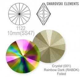 Swarovski rivoli 1122 Rainbow Dark 10mm