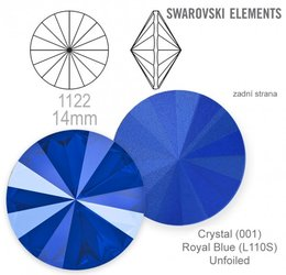 Swarovski rivoli 1122 Royal Blue 14mm