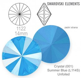 Swarovski rivoli 1122 Summer Blue 14mm