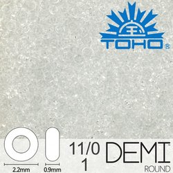 TOHO Demi Round 11-0 color 1
