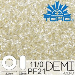 TOHO Demi Round 11-0 color PF21