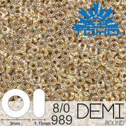 TOHO Demi Round 8-0 color 989