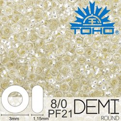 TOHO Demi Round 8-0 color PF21