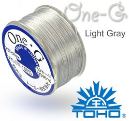 TOHO nylonova nit One G Light Gray c.14