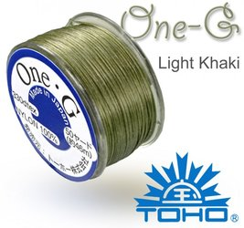 TOHO nylonova nit One G Light Khaki c.20