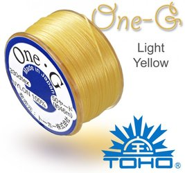 TOHO nylonova nit One G Light Yellow c.9